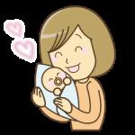 赤ちゃんを抱っこするイラスト